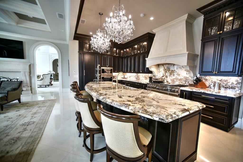 Patagonia Granite with Espresso Cabinets